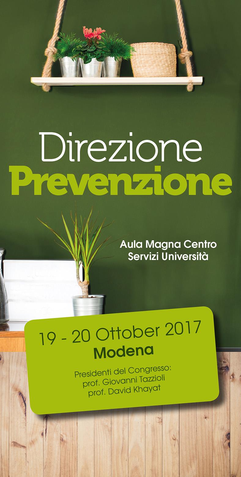 Copertina Direzione Prevenzione Modena 19.20 Ottobre 2017